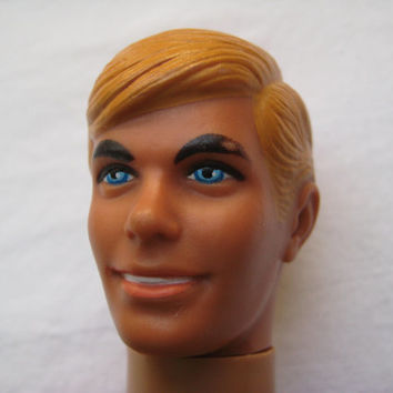 Vintage 1971 Ken Doll Sunset Malibu Barbie Boyfriend Mattel Stamped 1968 Hong Kong Used