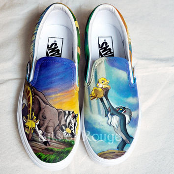 Custom Hand Painted Shoes- Lion King