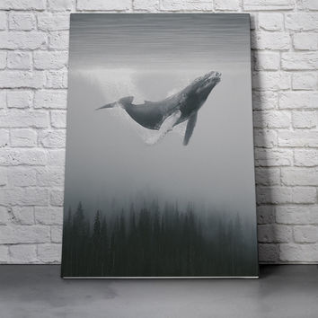 Canvas Wall Art Print - Whale Trees by Leftfield_Corn
