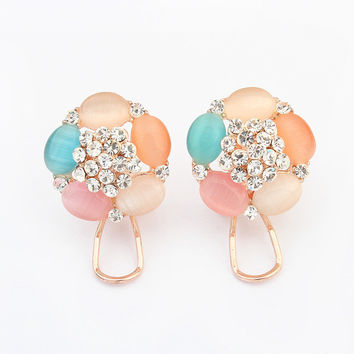 Korean Stylish Floral Earrings [4919092228]