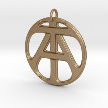 Monogram Initials AT Pendant by CalicoFlair on Shapeways