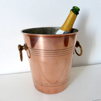 Vintage French Copper Champagne Bucket