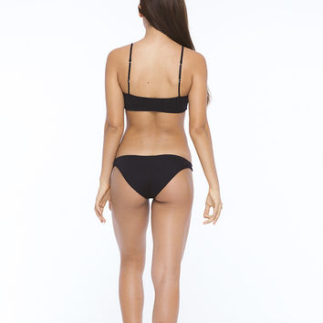 INDAH Domain Seamless Medium Coverage Bikini Bottom | Black