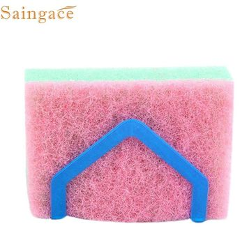 1PC Dish Cloths Storage Rack Holders Wall Mounted Suction Sponge Holder Clip Rag Storage Rack Pink Blue jan24 Levert Dropship