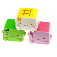 Kawaii Hannari Tofu Squishy | £3.95 | Buy @ Something Kawaii UK
