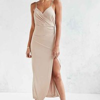 Bardot Nude Cinched Maxi Dress