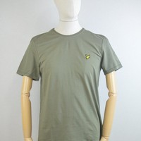 Lyle & Scott Plain Pick Stitch T-Shirt in Dusty Olive