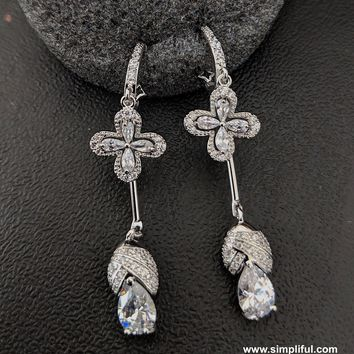 Ring style dual hanging Earring