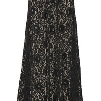 Alice + Olivia - Issa embellished lace maxi skirt