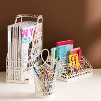 Wire Scallop Desk Accessories