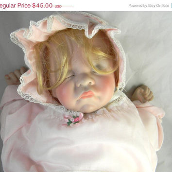 CIJ - Sale  - Vintage Lee Middleton First Moments Baby Doll -  collectable doll