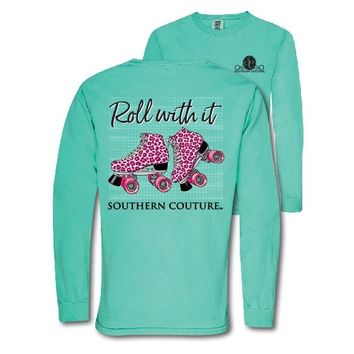 Southern Couture Preppy Roll With It Comfort Colors Long Sleeve T-Shirt