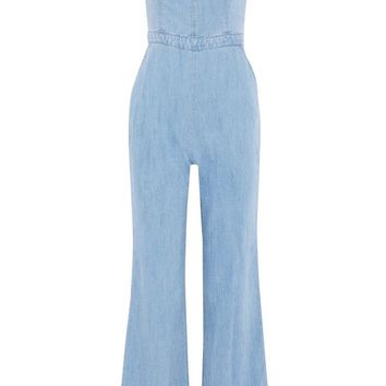Denim jumpsuit | ALICE+OLIVIA | Sale up to 70% off | THE OUTNET