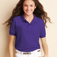 gildan(R) dryblend(R) youth double piqua(c) polo - purple (m/10-12)