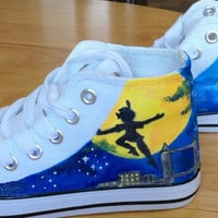 Peter Pan Custom painted Converse