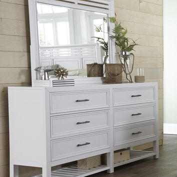 Serenade Transitional Drawer Dresser Tuxedo White