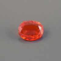 Fire Opal: 1.10ct Red Orange Oval Shape Gemstone, AAA Semi Precious Gem, Silver Steel Gold Creative Designers, OOAK Color Stone Dealer O41