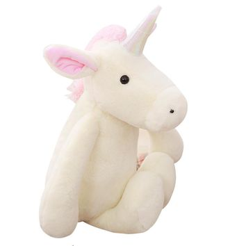 Unicorn Plush Unicorn Toys Pillow  Stuffed Animals Flying Horse Cushions Toy For Girls And Kids  Gifts Home Decoration
