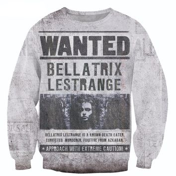 WANTED: Bellatrix Lestrange Printed Sweater
