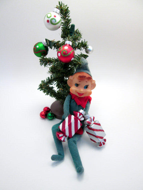 Vintage Elf On A Shelf Green And Red From Jenjoy83 On Etsy