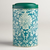 Large Floral Tea Tin