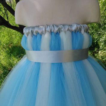 Ice princess tutu – white and blue tutu dress – tutu dress – baby tutu dress – wedding tutu dress – party tutu dress – birthday tutu dress