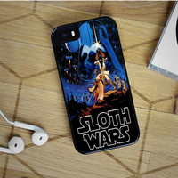 sloth wars iPhone 5(S) iPhone 5C iPhone 6 Samsung Galaxy S5 Samsung Galaxy S6 Samsung Galaxy S6 Edge Case, iPod 4 5 case