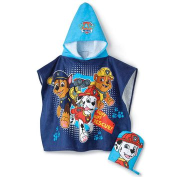 PAW Patrol Hooded Towel and Bath Mitt Set