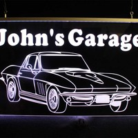 Personalized Chevy Corvette Man Cave Garage Sign