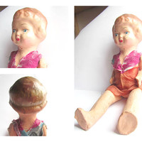 Composition  Doll, 1930s Antique Composition Doll/ vintage doll