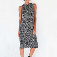 Kensie Face Doodle Crepe Midi Dress - Urban Outfitters