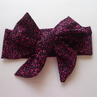 Bow, Baby Headwrap Bandana Headband Bows Bow Head Wrap Baby Hair bow Infant Bow Headband Hot Pink Flower Hairband Headwraps Goodtreasures123