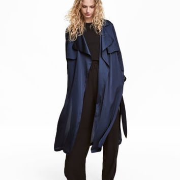 H&M Satin Trenchcoat $69.99