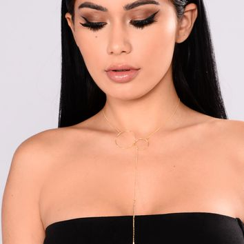 Ring Her In Necklace - Gold