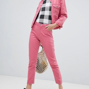 Monki Kimomo Jeans In Pink Co-Ord at asos.com