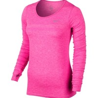 Nike Women's Dri-FIT Knit Long Sleeve Running Shirt | DICK'S Sporting Goods