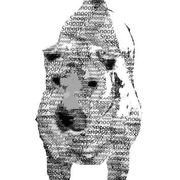 Personalized Pet Typography, Word Art, Custom Name, Digital Art Print, Home Decor, Ready to Frame, Wall Hanging, Memorial, Dog, Cat, Animal