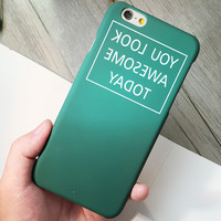 Originality Green Case Cover for iphone 5s 6 6s Plus Gift 181