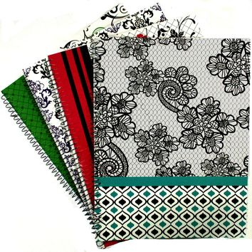 Simply Black & White 1 Subject Notebook - Wide Ruled - CASE OF 48