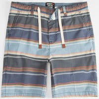 Momentus Striped Mens Shorts Slate Blue  In Sizes