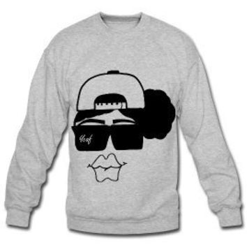Snapbacks & Natural Hair Boss Lady Crewneck Sweatshirt-Heather Gray