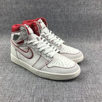 "Air Jordan 1 ""Sail/University Red"" - Best Deal Online"