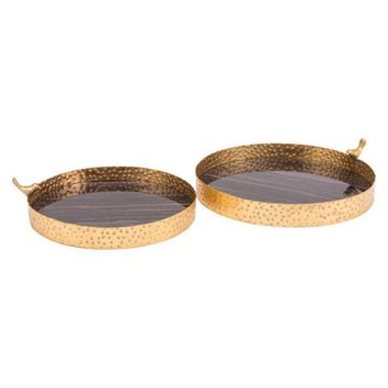 Onix Trays Purple & Antique Gold (Set of 2)