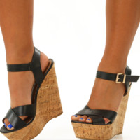 RESTOCK: Walking On Sunshine Wedges: Black