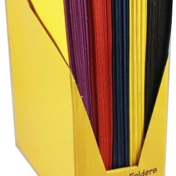 "Two Pocket Folders - 9"" x 12"" - Assorted Colors. - CASE OF 100"