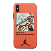 AIR JORDAN 1 x OFF-WHITE Joint Tide brand iPhone7 mobile phone case cover Orange