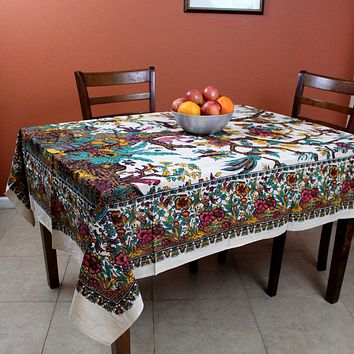 Cotton Tree of Life Tapestry Wall Hang 85x55 inches Tablecloth Beach Sheet