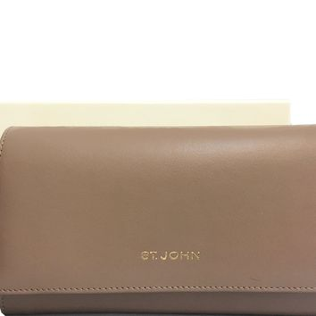 St. John - Leather Compartment Wallet - Taupe