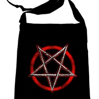 Inverted Pentagram Crossbody Sling Bag Occult Ritual