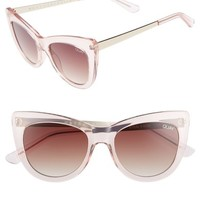 Quay Australia 53mm Steal a Kiss Cat-eye Sunglasses | Nordstrom